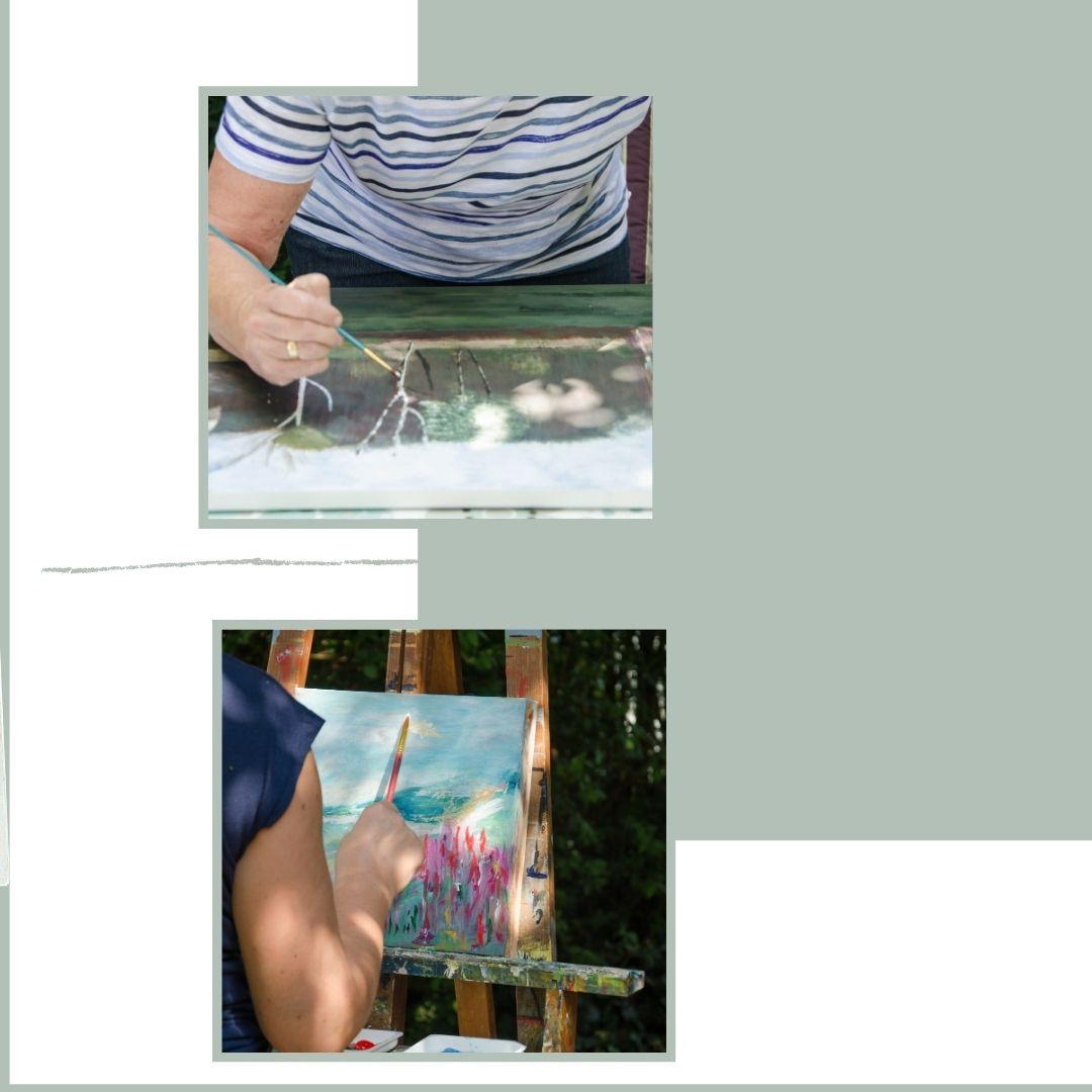 workshops schilderen met acrylverf